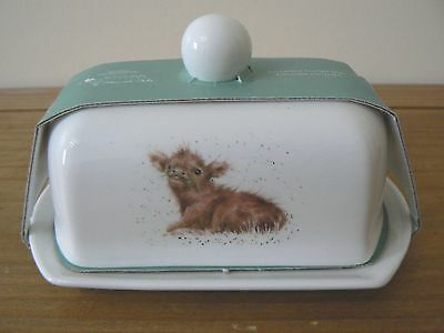 Royal Worcester / Wrendale Designs Covered Butter Dish - Animal CALF - NEW