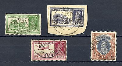 English Colony India -4 St.  Nepal  = Used Abroad -Forerunner F/vf