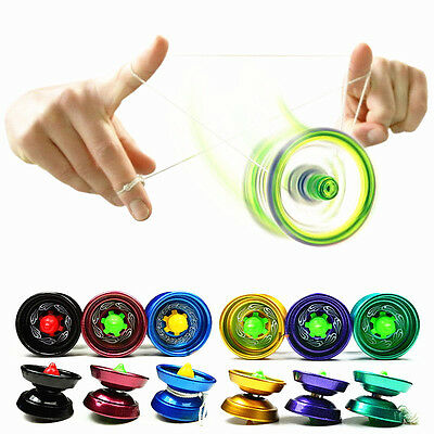 Kids Cool Aluminum Design Professional YoYo Ball Bearing String Trick Alloy