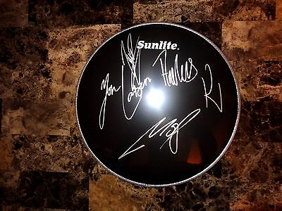 Volbeat Rare Fully Authentic Band Signed Drumhead All 4 Members Heavy Metal READ
