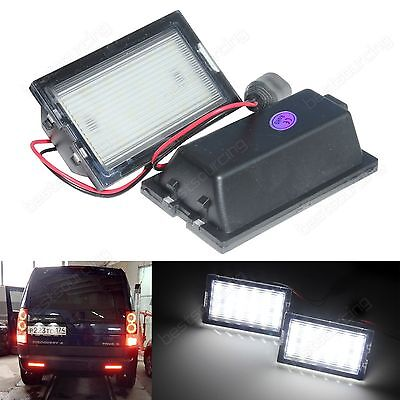 2x White LED Rear Licence Number Plate Light Canbus Land Rover Discovery LR3 LR4