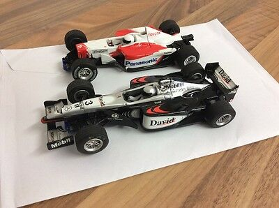 2 x F1 HORNBY/ SCALEXTRIC CARS MP4-16 & TF102