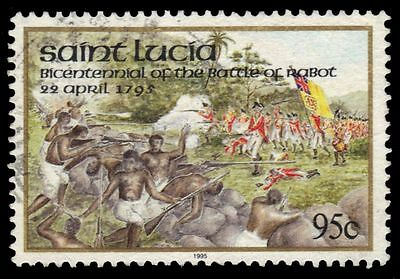 ST. LUCIA 1016 (SG1111) - Battle of Rabot 200th Anniversary (pa27569)