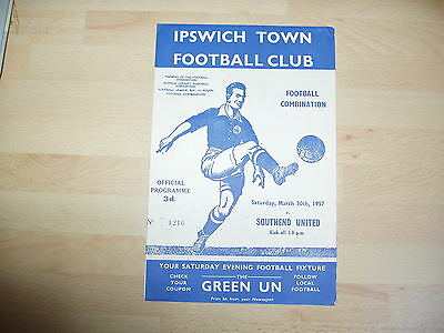 Ipswich Res v Southend Res Football Combination 1956/7