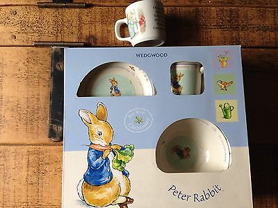 WEDGEWOOD CHINA Peter Rabbit set - New & Cute as buttons new - christening