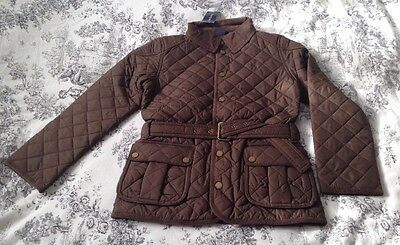 Ralph Lauren *imported Diamond Quilted & Belted Barn Jacket 8-9 Yrs *rrp £165.00