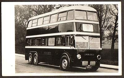 Real Photo Postcard Size London United Bus Company Trolley Bus