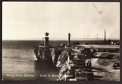 ORIGINAL REAL PHOTO POSTCARD EUROPA POINT GIBRALTAR STRAITS AFRICA COAST c1935