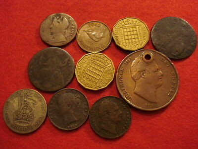 10 British Coins Charles II - 1967 (1 Silver)