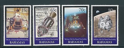 Bahamas 1999 30th Anniv of First Manned Landing on Moon set of 4