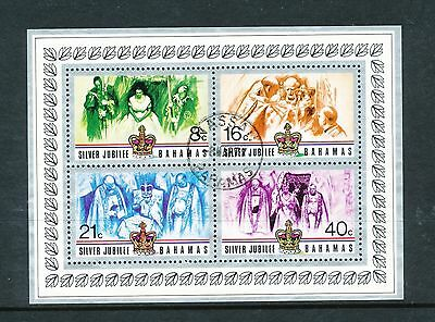 Bahamas 1977 Silver Jubilee MS used with wrinkling