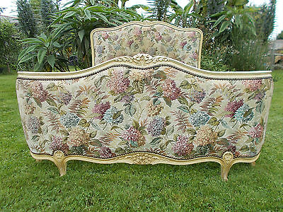 Vintage French Double Bed Demi Corbeille Early Example Louis Xv Revival Style