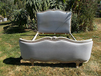 Vintage French Double Bed Demi Corbeille For Reupholstering Great Project
