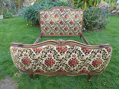 Vintage French Double Bed Demi Corbeille Louis Xv Revival F@b Frame Early Examp