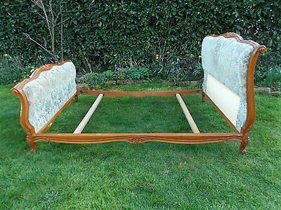 Vintage French Double Bed Quality Sleigh Bed Frame Great L@@king Piece Brocade