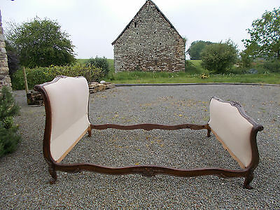 Vintage French Double Bed Quality Sleigh Bed Frame Beautiful Carved Frame