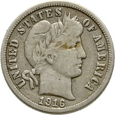 Lanz Usa 1 Dime 1916 Barber Dime Liberty Head Wreath Silver°Txt1645