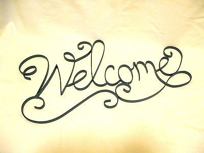 Tourquoise Metal Welcome Wall Decor