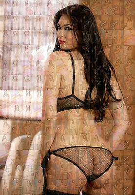 TERA PATRICK photo mosaic cm. 30x41 poster with a lot of sexy hot pics