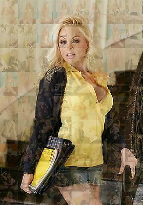JESSE JANE photo mosaic cm. 30x41 poster with a lot sexy hot pics