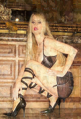 JENNA JAMESON photo mosaic cm. 30x41 poster with a lot of hot sexy pics I