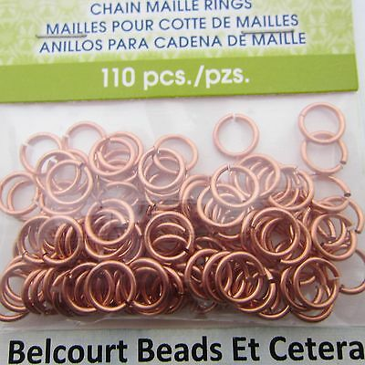 5.56mm Copper Chain Maille Open Jump Rings Artistic Wire 18ga 110 O Rings