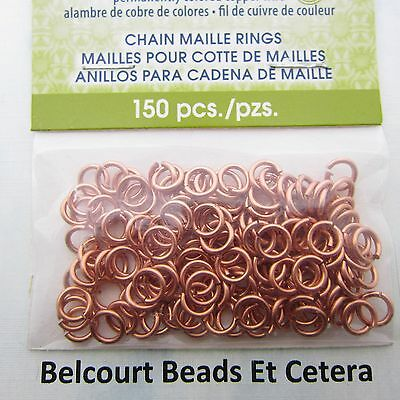 3.97 Copper Chain Maille Open Jump Rings Artistic Wire 18ga 150 O Rings