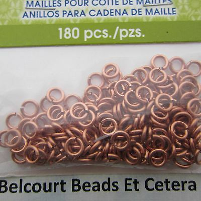 3.18 Copper Chain Maille Open Jump Rings Artistic Wire 18ga 180 O Rings