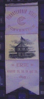 1895 Erie Pa Pennsylvania State Convention August 22-25 Baldwin Gleason Litho Ny