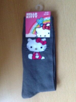 hello kitty black socks 4-7  Eur 35-40 Women's / Kids Xmas Stocking Fillers