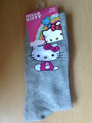 hello kitty Grey  socks 4-7  Eur 35-40 Women's / Kids Xmas Stocking Fillers