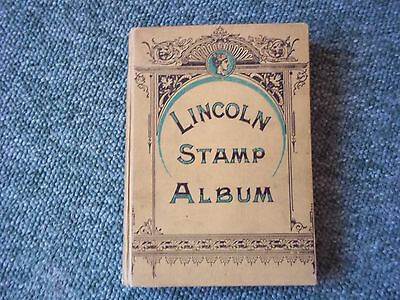 Lincoln Stamp Album Fourth Edition - With Stamps Approx 600 Plus
