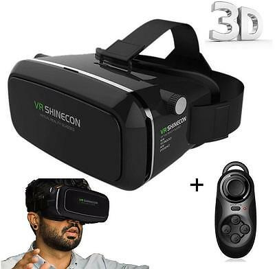 Shinecon VR Box Virtual Reality Headset & Remote Control Black
