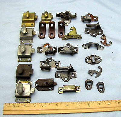 Misc. Hardware - Lot Antique  Door Cupboard Cabinet Latches Knobs