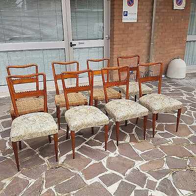 8 Original Chairs By Pier Luigi Colli Italian Design From 1940-50