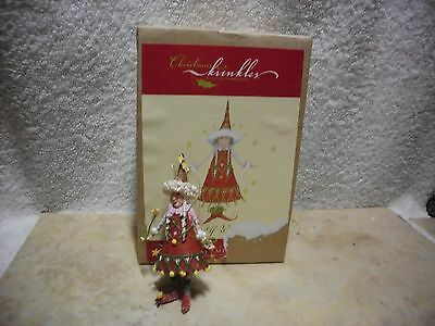 Department 56 Christmas Krinkles Ornament Elf Woman W/box