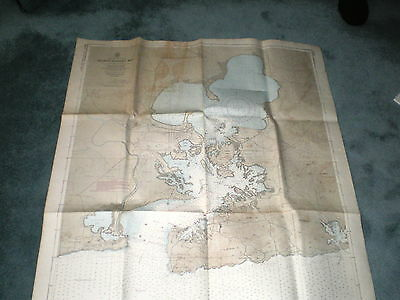 Vintage 1965 Map /cuba- South Coast Guantanamo Bay/for Official Use Only