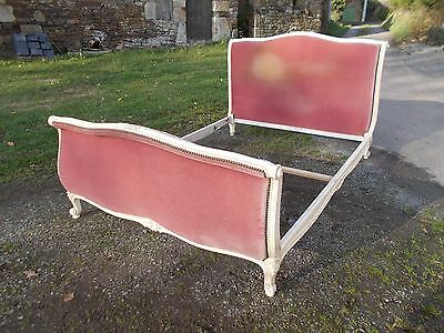 Vintage French Double Bed Quality Sleigh Bed Frame Beautiful Ivory Frame
