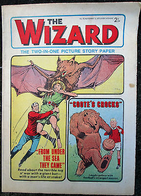 VINTAGE THE WIZARD Comic - Issue 92 - Date 13/11/1971 - UK Paper Comic L@@K