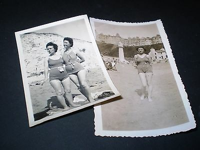 social history 1930's glamour lady in bathing costume fashion 2 photographs 2