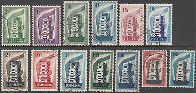 1956 Europa CEPT Year Set of 13. All Stamps as Issued Very Fine Used