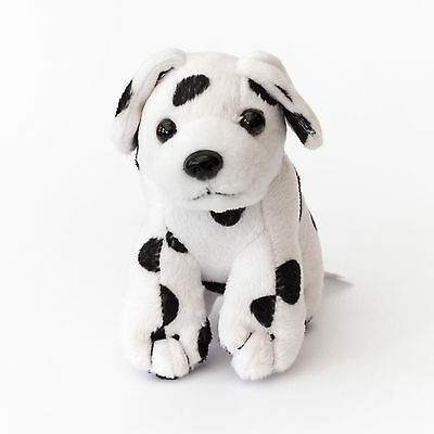 NEW - BLACK & WHITE SPOTTED PUPPY DOG - Cute Cuddly - Gift Present Birthday Xmas