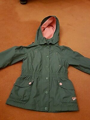 Girls Grey and pink fleece lined Jacket coat from Next 7-8 years
