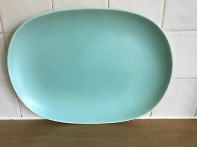 Poole Pottery Twintone Ice Green & Seagull C57 - Large 35 cm Oval Platter