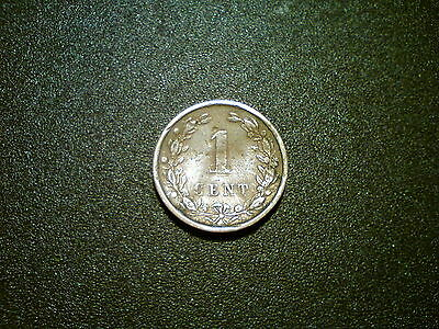 1900 Netherlands 1 Cent Coin