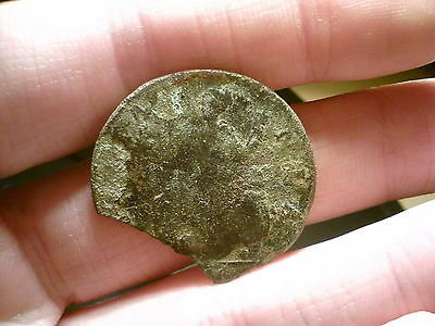 George Ii British Half Penny Early Milled Coin. Broken