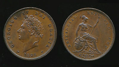 1826 Reverse B - George IV PENNY - Thin Line....VERY RARE...Fast Post