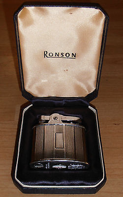 Vintage Ronson Petrol Lighter in case