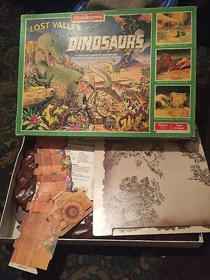 Vintage 1985 Waddington's Lost Valley Of The Dinosaurs Board Game 100%  COMPLETE