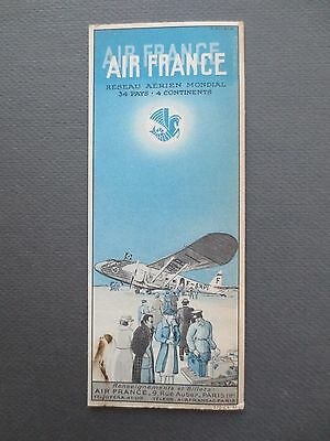 Vintage French BOOKMARK AIR FRANCE Airline Aircraft Advertising Promotional OLD